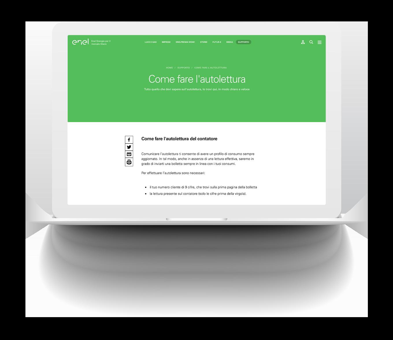 Immagine di progetto per Enel - esempio pagina online