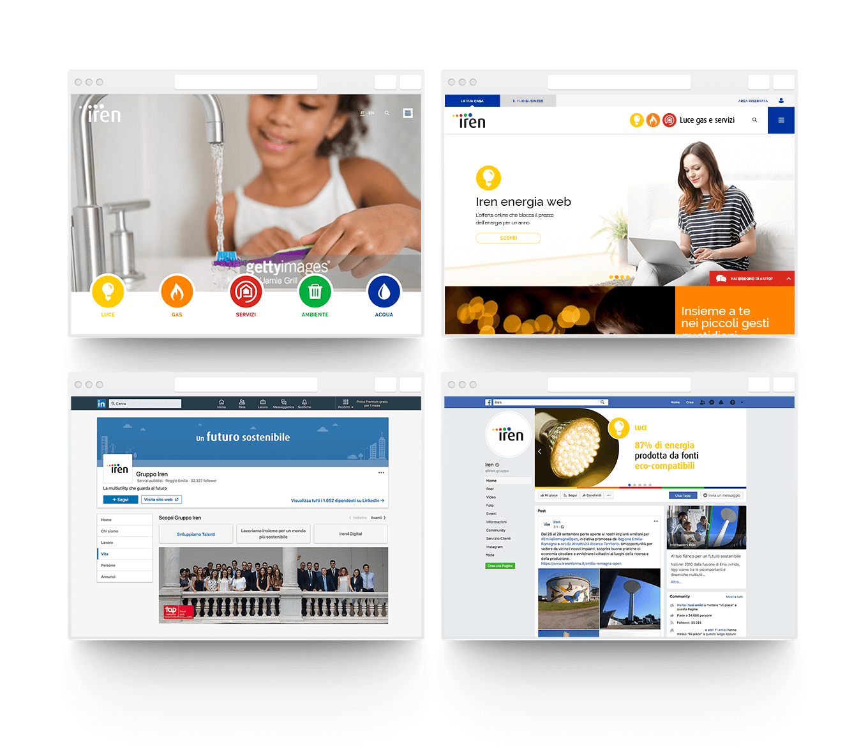 Schermate portale internet