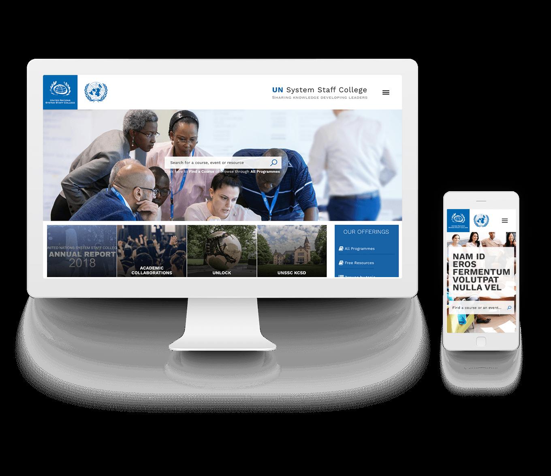 Immagine Homepage portale internet per desktop e mobile